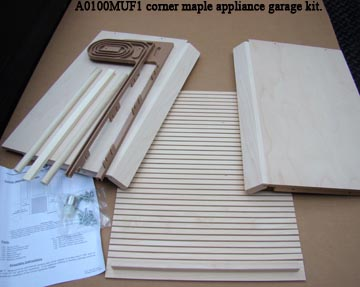 Omega-National corner maple applicance garage
