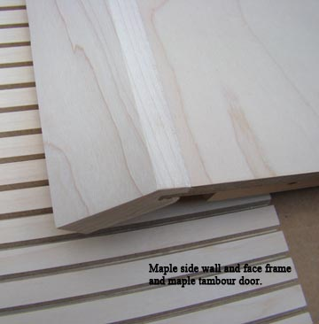 Maple face frame close up