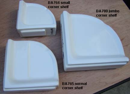 Ceramic Corner Shelves For Showers And Bathtubs To Hold