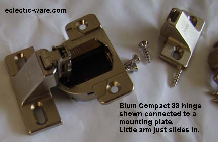 Blum Compact 33 face mounted cabinet hinges - concealed cabinet hinges