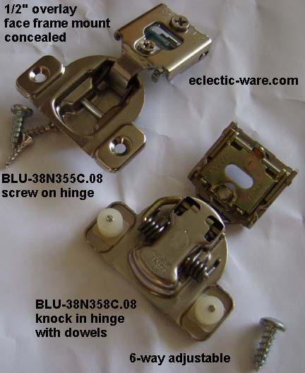 Decorative & Concealed Cabinet Door Hinges | Eclectic-ware