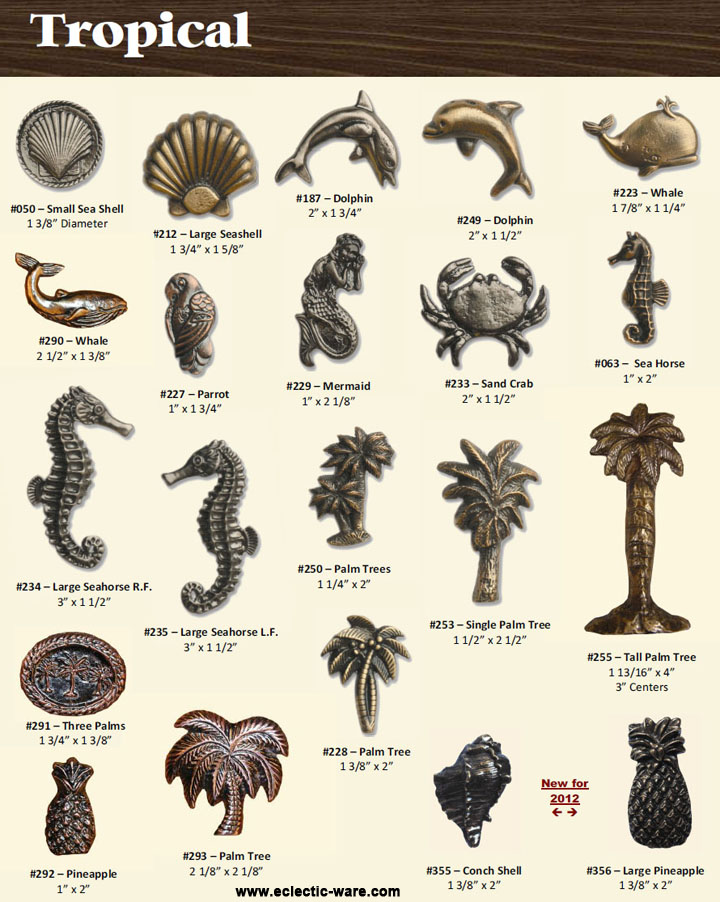 Bucksnort Tropical Sea Life Door Pulls | Eclectic-ware