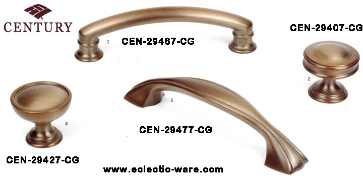 Century Hardware Champagne Gold Cabinet Knobs And Drawer Pulls