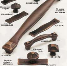 Schuab cabinet knobs - drawer pulls - appliance handles