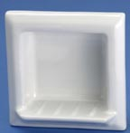 Lenape 798 square semi-recessed soap dish