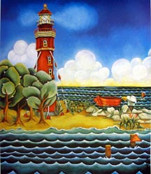 Pat Gawle's Lighthouse painting