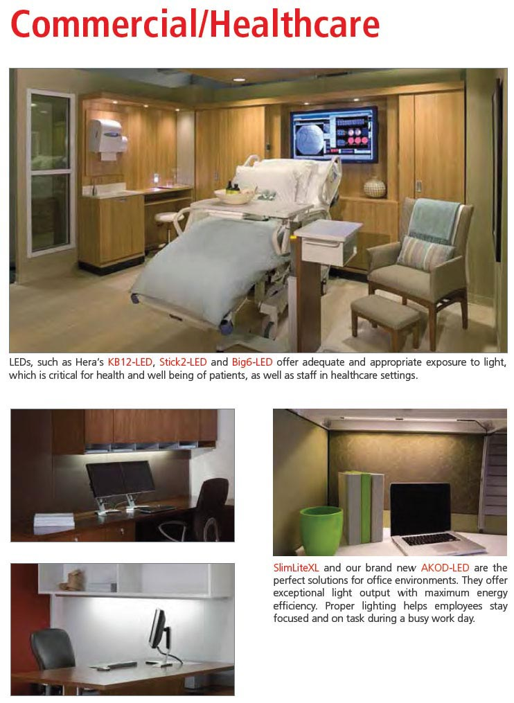 Hera Lighting for medical office applications
