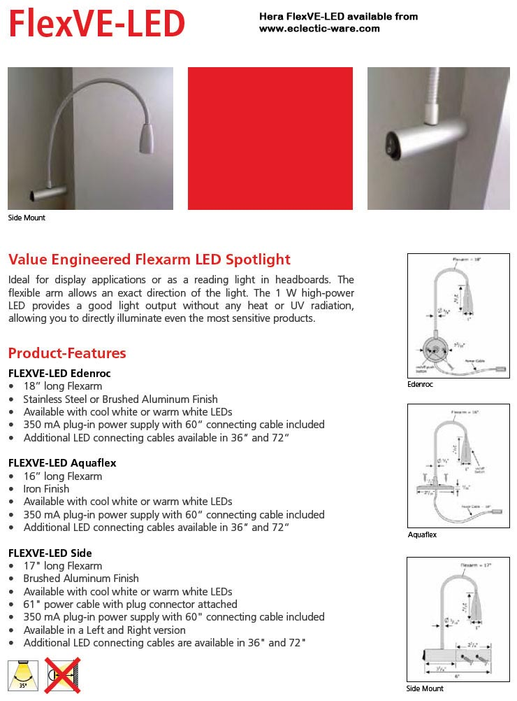 Hera Lighting FlexVE-LED value priced LED light fixtures