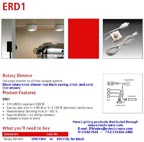 Hera ERD1 rotary knob dimmer for use with 12 volt electronic transformers - available in white or black