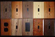 C&R Woodcrafters custom made wood switch plates
