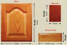 Woodmont Doors custom made kitchen cabinet doors - bathroom cabinet doors