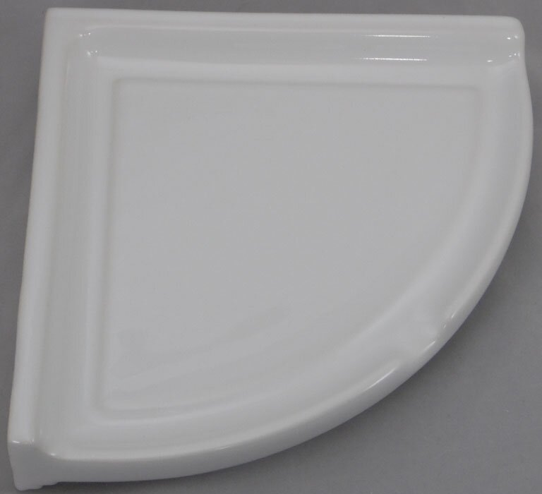 Ceramic Corner Shower Shelf-Large