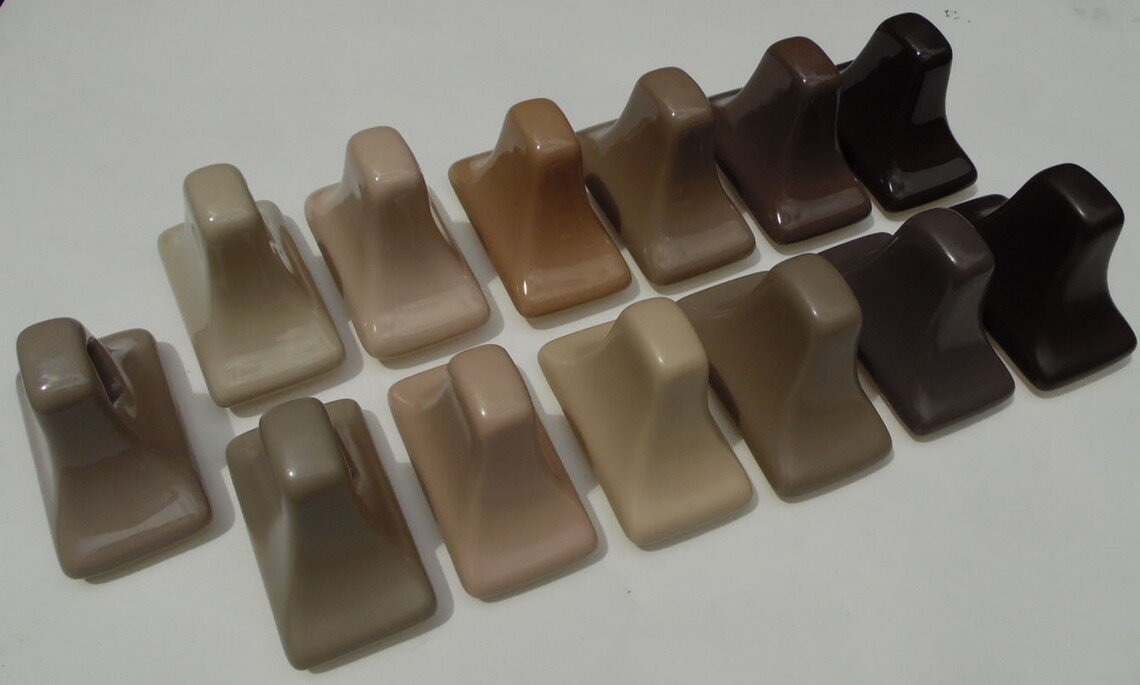 AC Products brown group photo of ceramic colors