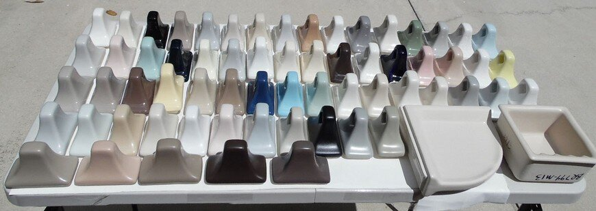 AC Products color array for ceramic bathroom hardware choices