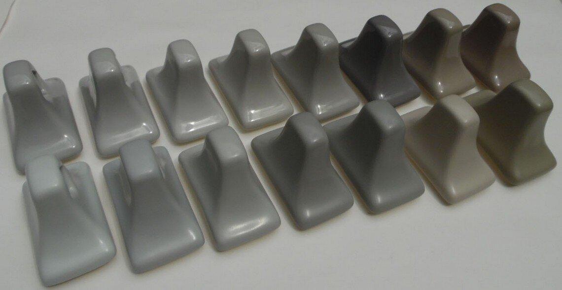 AC Products grey ceramic colors compared