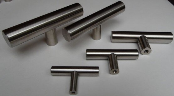 Stainless Steel T-Pulls from Arthur Harris and Eclectic-ware