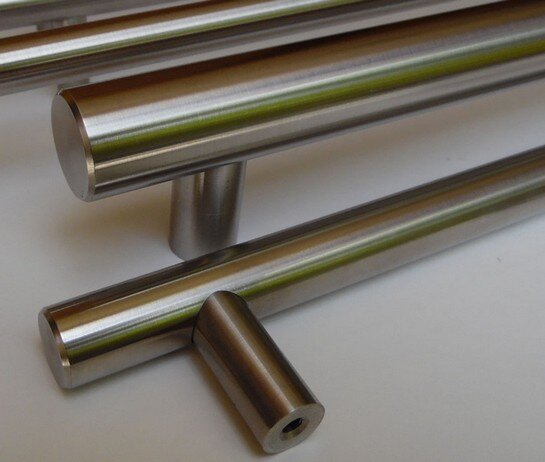 Stainless steel bar handles closeup - Arthur Harris