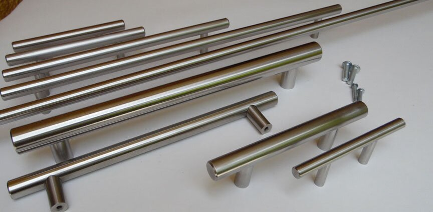 Arthur Harris stainless steel long to short cabinet handles