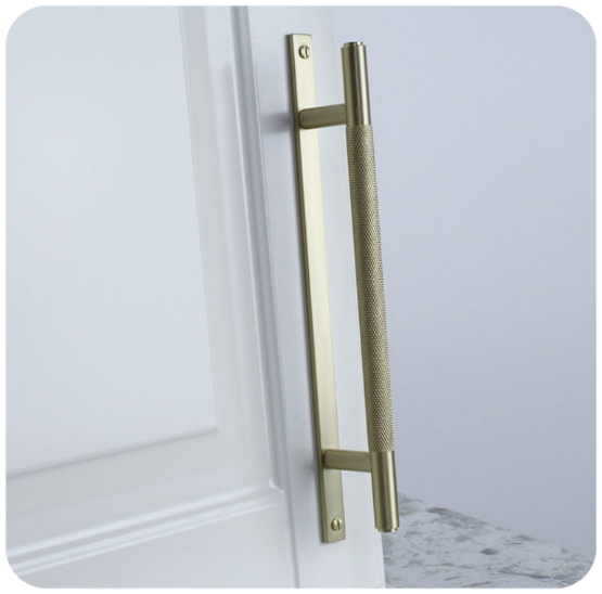 Century Hardware cabinet handle with full length backplate
