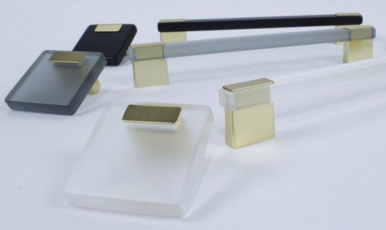 Century Hardware Luminaires collection of square knobs and handles