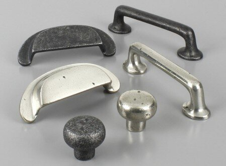 Century Hardware solid brass and bronze cabinet pulls