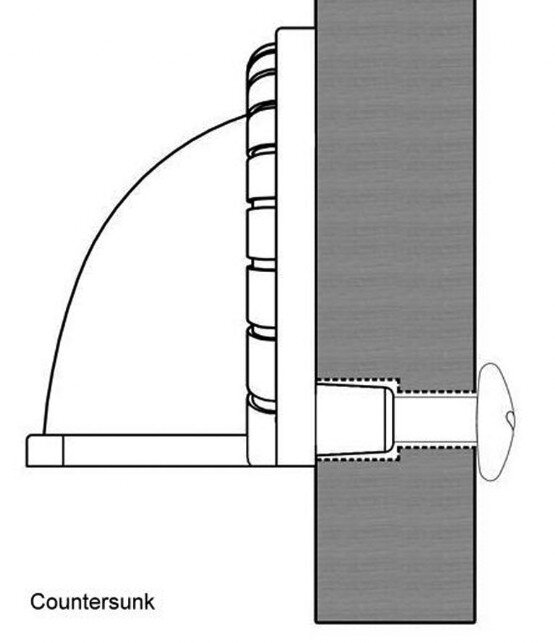 Century Hardware Whistler cup pull mounting diagram