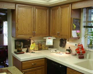 After photo with new kitchen cabinet doors