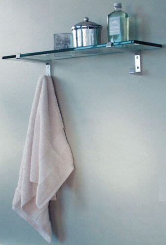 Tempered glass bathroom shelves