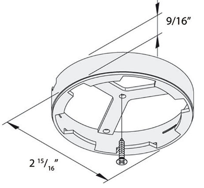 Hera FR68-LED surface mount ring diagram DIR68