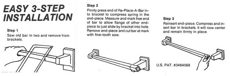 Lenape Re-Place-A-Bar installation instructions