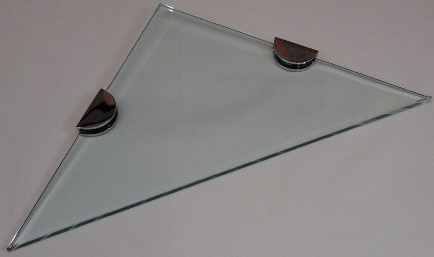 Lenape Luxury Glass Shelf kits - triangular glass corner shelves