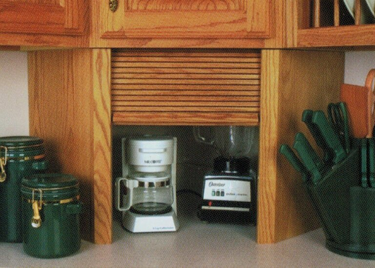 Omega-National roll up kitchen appliance garages