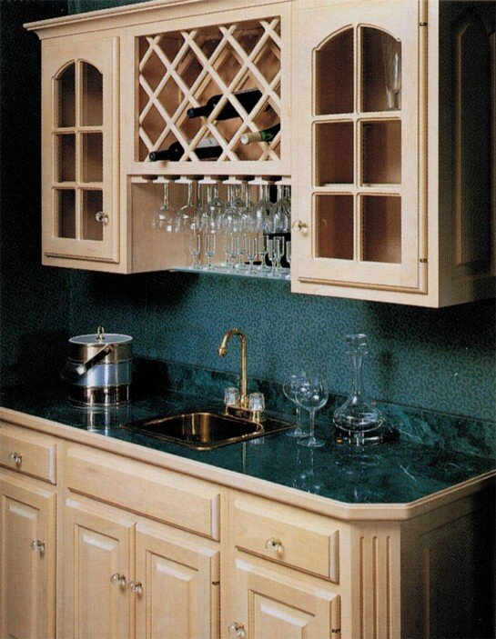 Omega-National wood products for kitchen storage and organizing