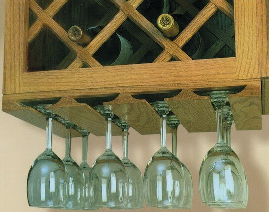 Omega-National wood stemware glass holders