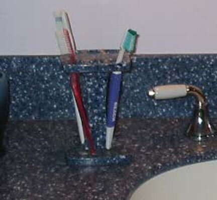 Rock Solid Corian toothbrush holder
