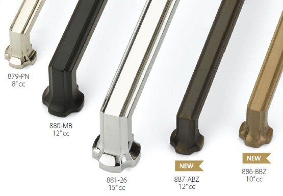 Schaub Empire cabinet pulls appliance handle difference