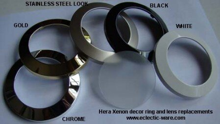 Hera Xenon decor rings and glass lenses