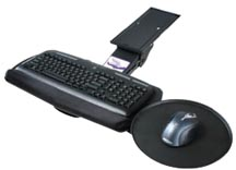 Articulating keyboard pull outs and platforms - mouse trays