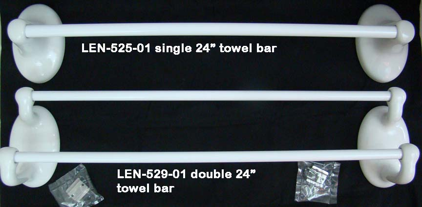 White Porcelain Towel Bars