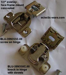 Replacement cabinet door hinges