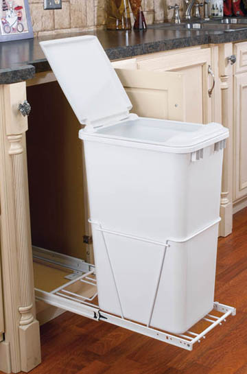 Rev-A-Shelf RV12PB50-S full extension large kitchen trash can