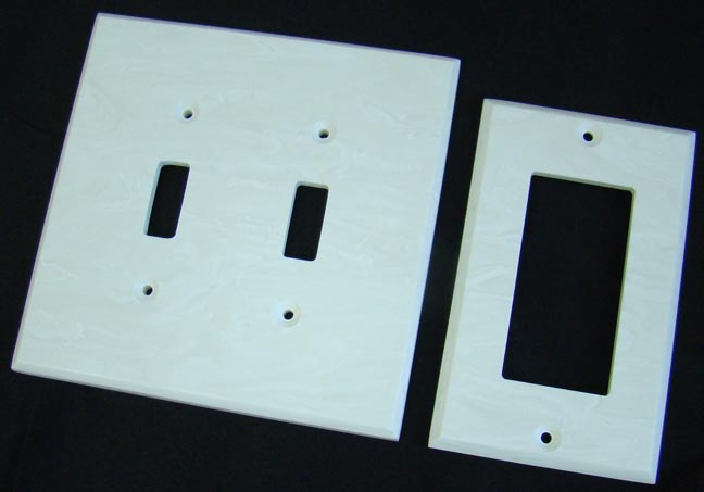 Solid surface switch plates