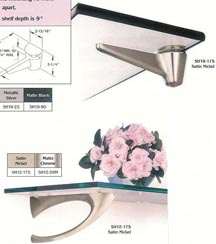 Doug Mockett decorative shelf brackets and mounts