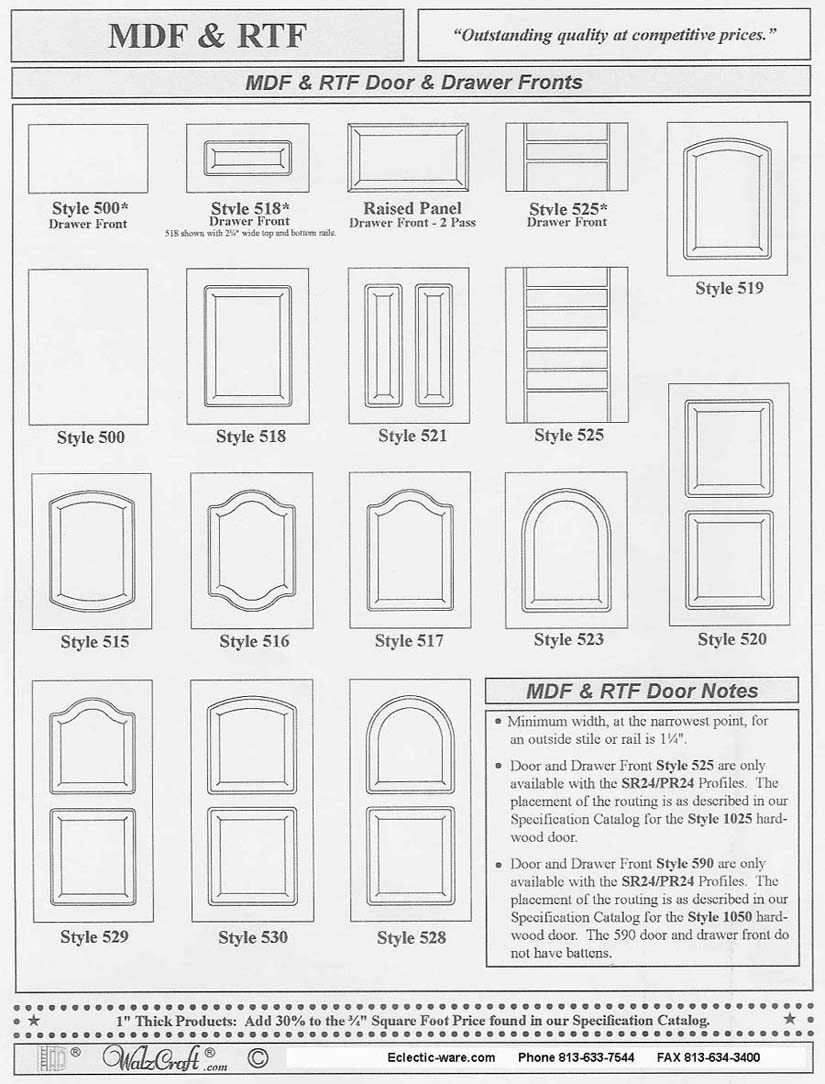 White Cabinet Door Design walzcraft rtf cabinet door design choices | eclectic-ware