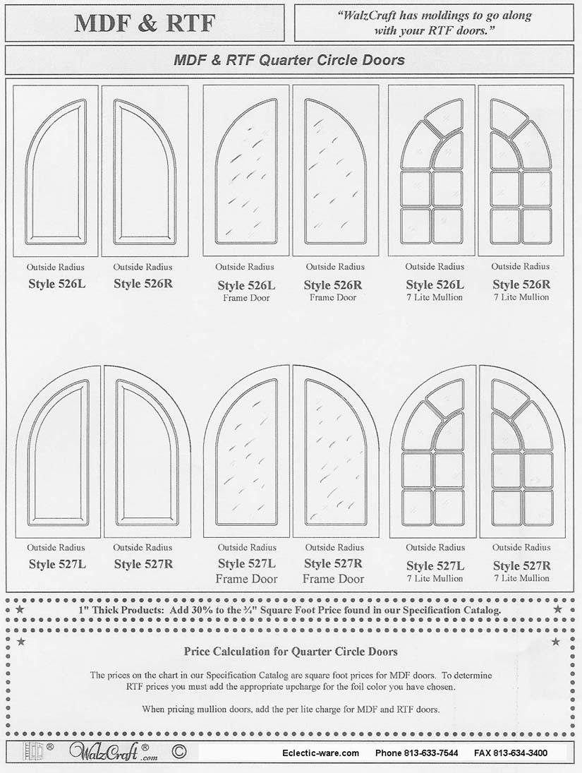 Walzcraft Special Design Rtf Cabinet Doors