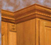 Woodmont Doors moulding and veneer choices for cabinet refacing - plywood, veneer, and crown moulding for refacing your kitchen cabinets