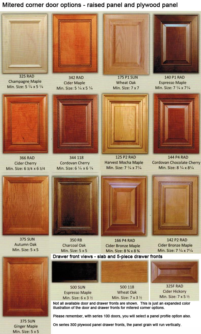 Kitchen Cabinet Wood Choices Mitered Corner Custom Wood Cabinet Doors Eclectic Ware