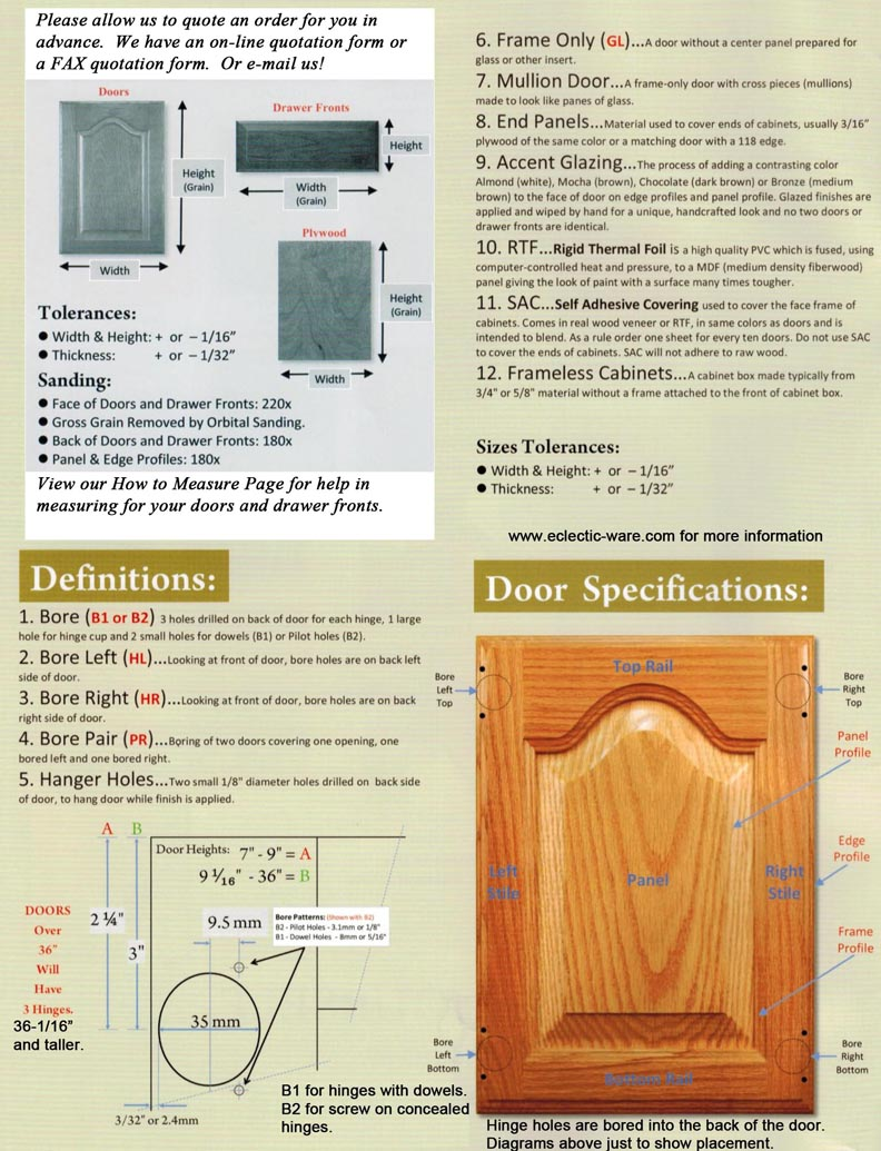 Measuring Installing Your Cabinet Doors Eclectic Ware