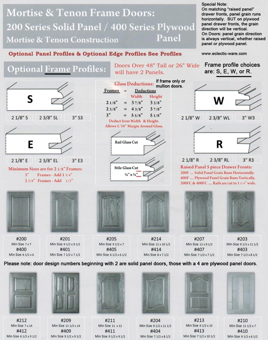 Woodmont series 400 plywood panel doors specifications