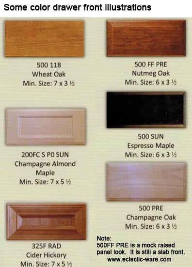 Woodmont Slab Style Wood Drawer Fronts Eclectic Ware